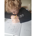 Charlie doing arithmetic work.