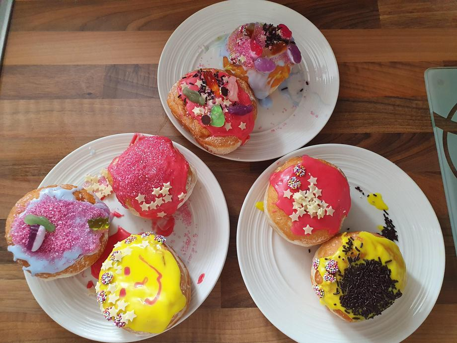 The finished doughnuts...yummy!