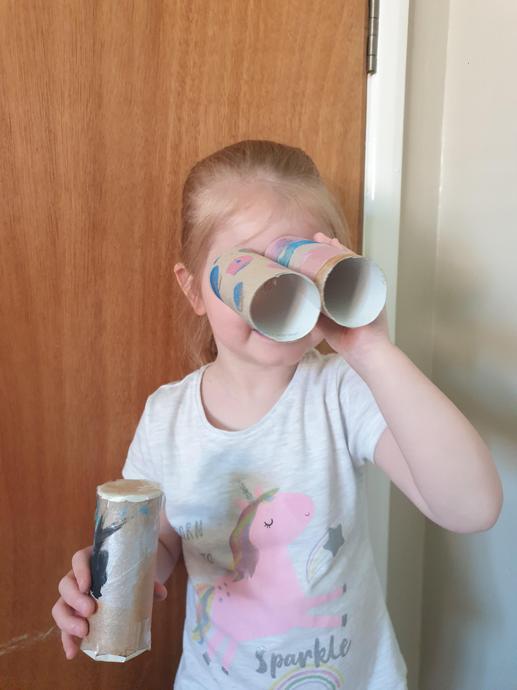 binoculars 0 what did you spy Ella?