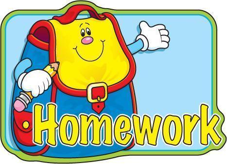 Homework (Y3/4 Tues)