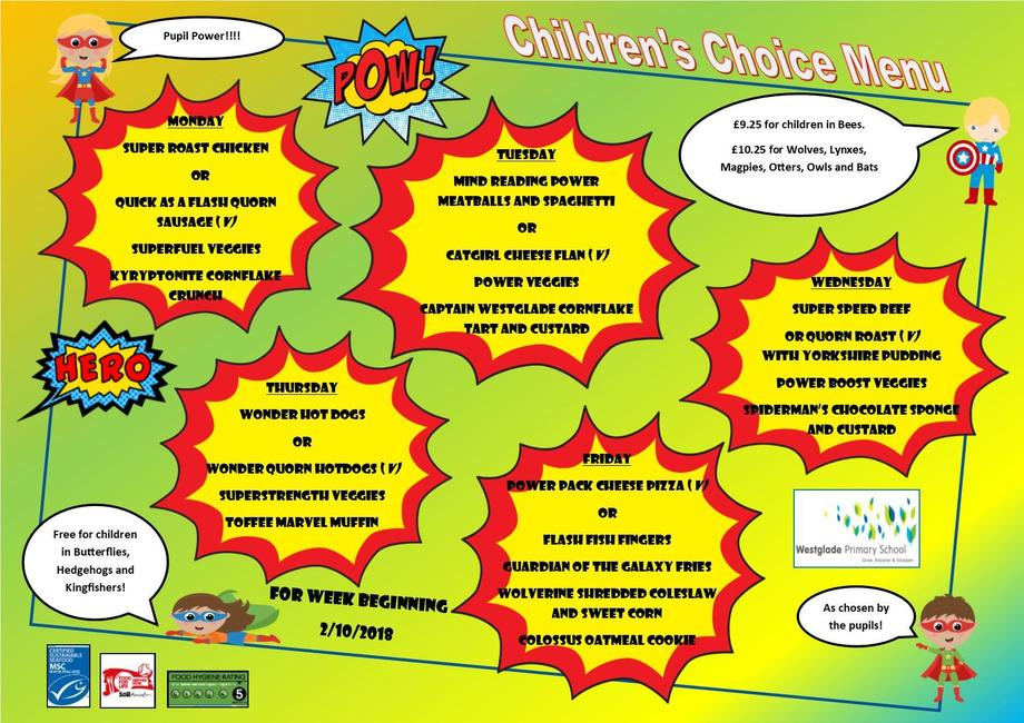 Children's Choice Menu