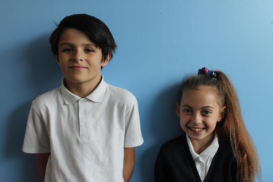 Headboy and girl Samuel and Lacie
