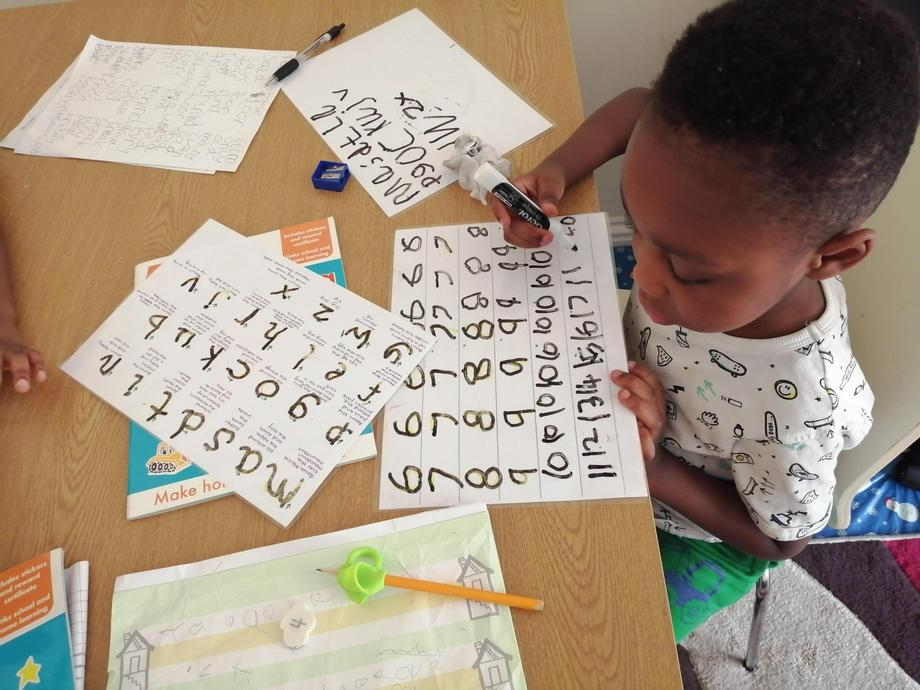 Practising formation of numbers and sounds