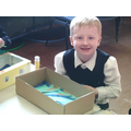 Making our aquarium for our information text.