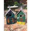 The finished product! A beautiful bird house.