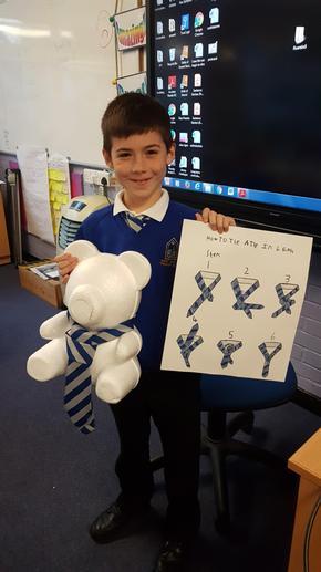 A Tie Tying Teacher! Terrific!