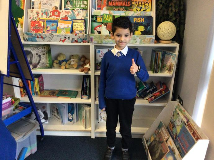 Bayro is this week's learner of the week for independence and being a good role model.