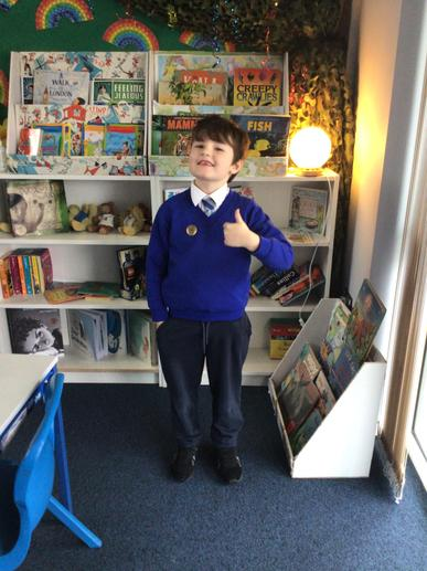 Logan is this week's learner of the week for his amazing efforts in his speech work and in
