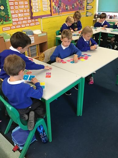 Counting dots to play dominoes