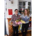 Presentation to Mrs Zoe Sharratt on our last day.