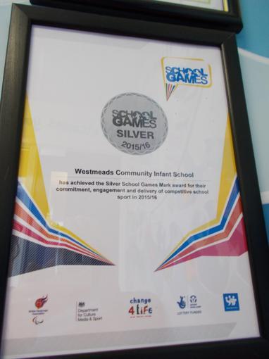 School Games Silver Award 2015/16