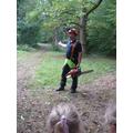 Guy explaining his job as Forester