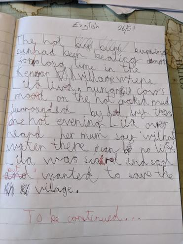 Well done Jack for a fantastic piece of writing at home