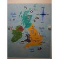 U.K Map Display