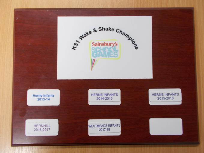KS1 Wake and Shake School Games Award 2017-18