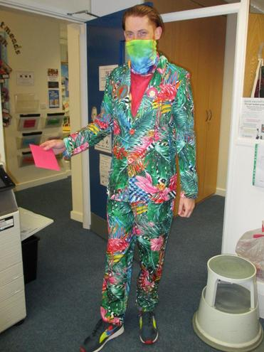 Mr Whorlow's happy outfit