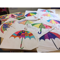 The children's lovely umbrella pictures