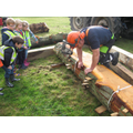 The spacers help the planks to dry.