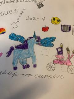 Maths, emoji ,biking Unicorn
