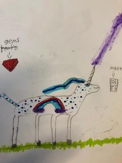 Rainbow maths Unicorn