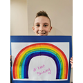 This is Mrs Dawson's son proud of his rainbow