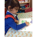 Pea finger painting