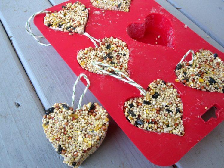 Share the love with a bird feeder.