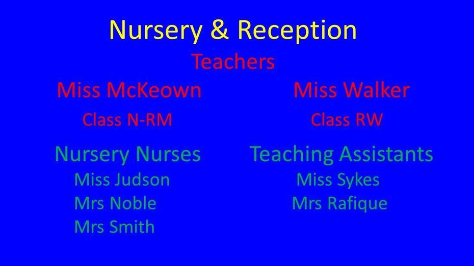 Nursery & Reception