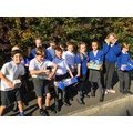 Year 6 helped to deliver our Harvest parcels