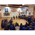 Children in Kingfishers leading worship.