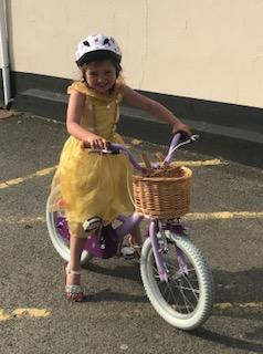 Lacey-Jo has learned to ride her new bike