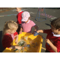 Water play using different tools
