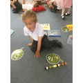 Counting out to match numeral