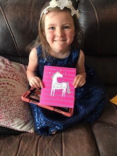 Celebrating her birthday - lovely unicorn!