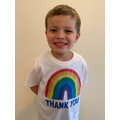 Proudly showing his new charity NHS T-shirt