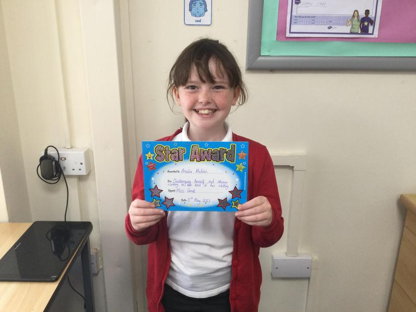 Well done for continuously challenging yourself with your learning Amelia!