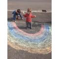 Rainbow chalking
