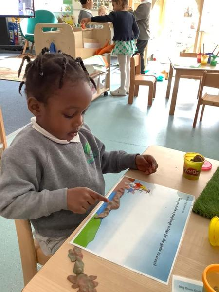 We made bridges out of different materials around the nursery.