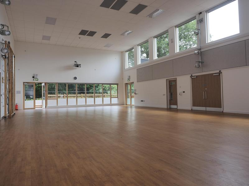 Our spacious, light, hall with excellent sound system and lighting
