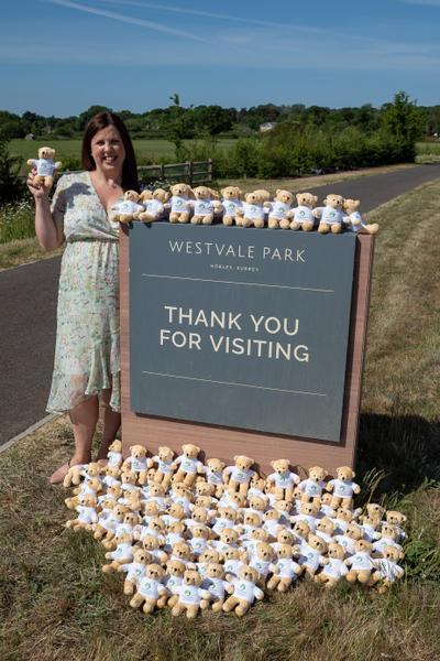 Picture from Surrey Live article; Head Welcomes New Pupils by Hand Delivering Teddy Bears