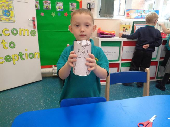 We have been making characters from The Three Little Pigs story.