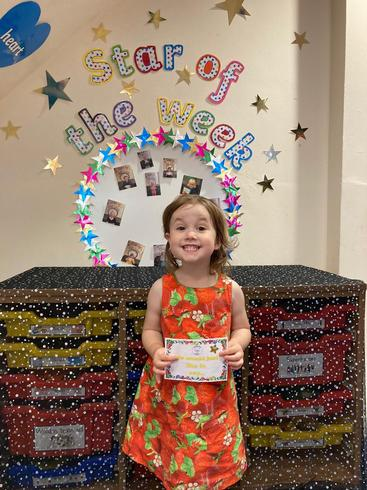 Tallulah is our star of the week for Nursery - 16th July 2021