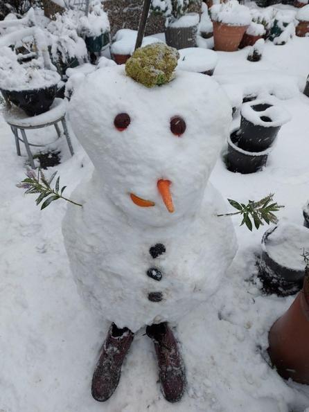 Mrs Norton's snowman - Martin!