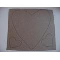 draw hearts onto cardboard