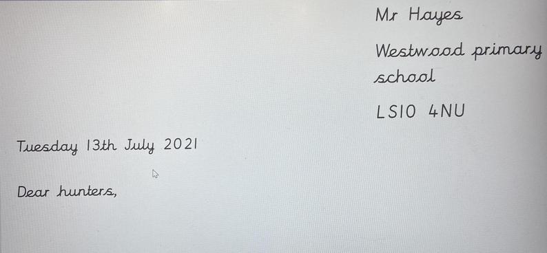 How the letter should be addressed.