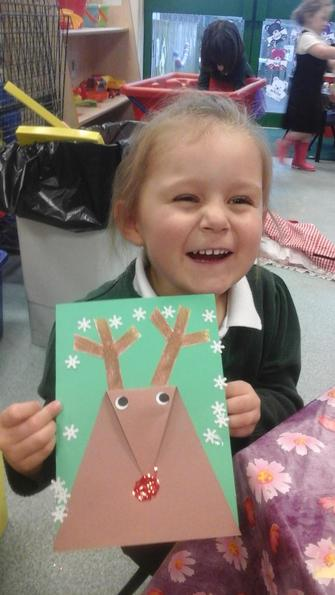 We created Rudolph Christmas Cards