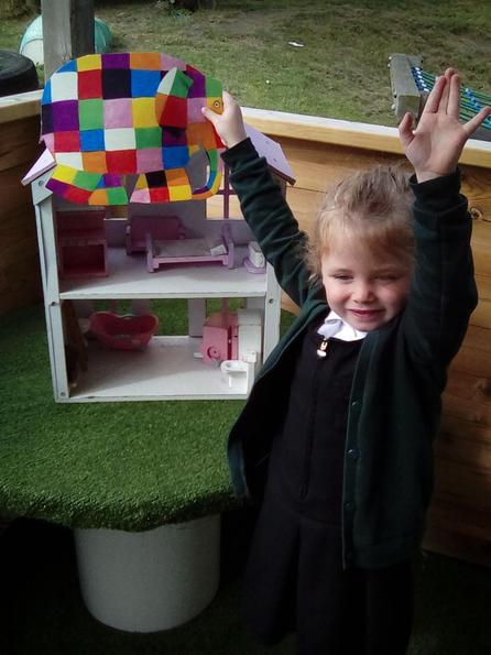 On top of the dolls house