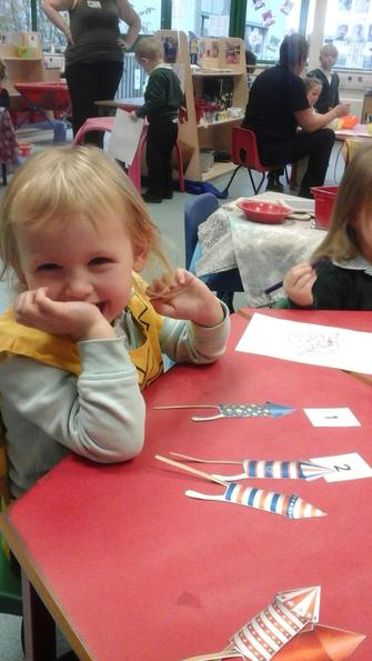 We counted fireworks and matched the number!
