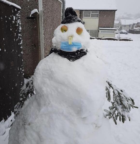 Neve's snowman