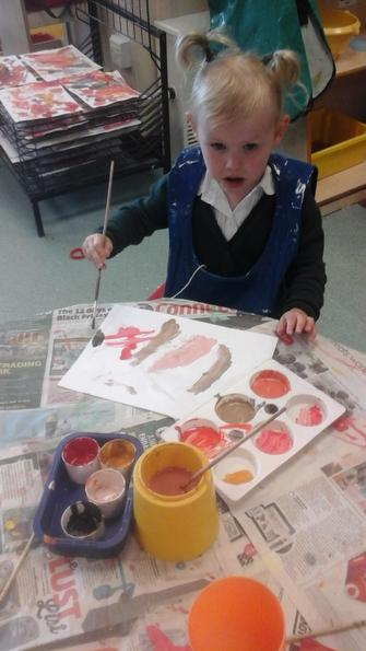 We mixed lots of colours together!